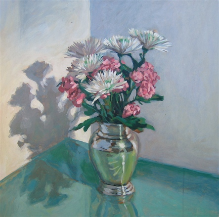 Still Life with Mums and Carnations